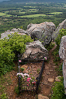 Petit Jean Gravesite Overlook at Petit Jean State Park near Morilton Arkansas.