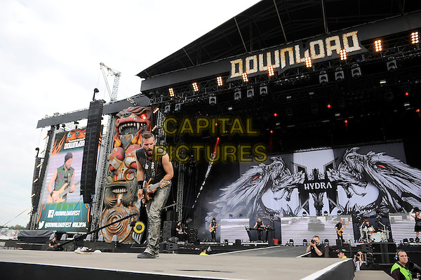 LEICESTERSHIRE, ENGLAND - JUN 13: Within Temptation performing at Download Festival, Donington Park on June 13th 2014 in Leicestershire, England<br /> CAP/MAR<br /> &copy; Martin Harris/Capital Pictures