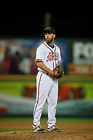 Richmond Flying Squirrels relief pitcher Sam Moll (41) during an Eastern League game against the Binghamton Rumble Ponies on May 29, 2019 at The Diamond in Richmond, Virginia.  Binghamton defeated Richmond 9-5 in ten innings.  (Mike Janes/Four Seam Images)