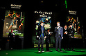 "Seth Rogen, Michel Gondry,  and Jay Chou, Jan 20 2011 : Director Michel Gondry, actor Seth Rogen, and Taiwanese actor Jay Chou attend the Japan premiere for the film ""Green hornet"" in Tokyo, Japan, on January 20, 2011."