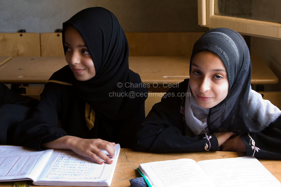 Surman, Libya - Libyan Girls in Koranic School