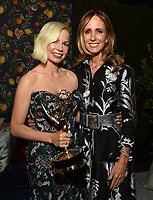 Michelle Williams and Dana Walden, Chairmen, Disney Television Studios and ABC Entertainment attend the ABC, Disney Television Studios, FX Networks, Hulu and National Geographic 2019 Emmy Awards Post Party at Otium on September 22, 2019. For the first time ever, Disney hosted an Emmy Award post party honoring ABC, Disney Television Studios, FX Networks, Hulu and National Geographic tonight. Executives, producers and actors came together to applaud the company's collective nominations and celebrate industry wins. (Photo by PictureGroup/Walt Disney Television)
