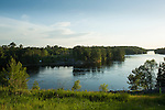 The TransCanada mainline and the proposed Energy East pipeline crosses the Winnipeg River that exits from Lake of the Woods near Kenora, Ontario. The proposed Energy East pipeline would cross the Winnipeg River and many other prominent rivers in its' voyage towards the East Coast. (Credit: Robert van Waarden - http://alongthepipeline.com)