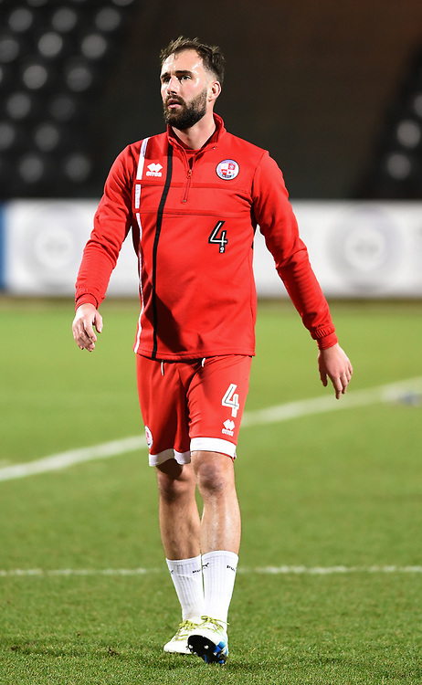 Crawley Town&rsquo;s Josh Payne during the pre-match warm-up <br /> <br /> Photographer Jon Hobley/CameraSport<br /> <br /> The EFL Sky Bet League Two - Notts County v Crawley Town - Tuesday 23rd January 2018 - Meadow Lane - Nottingham<br /> <br /> World Copyright &copy; 2018 CameraSport. All rights reserved. 43 Linden Ave. Countesthorpe. Leicester. England. LE8 5PG - Tel: +44 (0) 116 277 4147 - admin@camerasport.com - www.camerasport.com