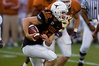 01 APRIL 2006: University of Texas freshman quarterback hopeful, Colt McCoy, runs the ball at Darrell K. Royal Memorial Stadium during the Longhorns annual spring Orange vs White Scrimmage.