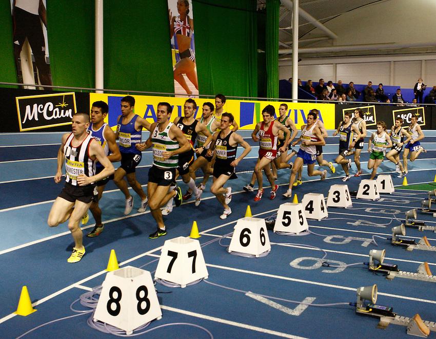 Photo: Richard Lane/Richard Lane Photography. Aviva World Trials & UK Championships. 13/02/2010. Men's 3000m.
