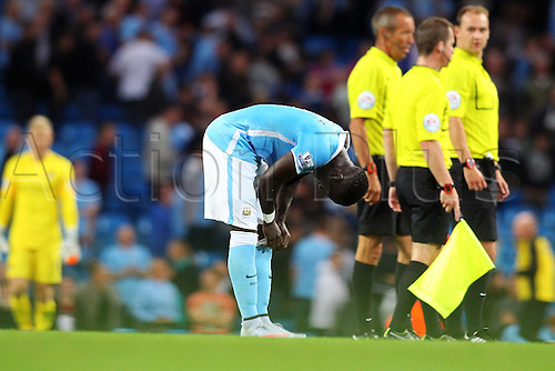 19.09.2015. Manchester, England. Barclays Premier League. Manchester City versus West Ham. Yaya Toure of Manchester City looks dejected as his team lose 2-1