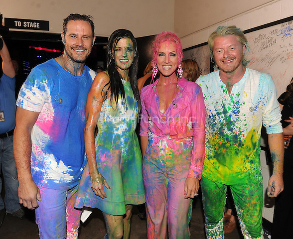 NASHVILLE, TN - JUNE 4: (L-R) Jimi Westbrook, Karen Fairchild, Kimberly Schlapman and Philip Sweet of Little Big Town at the 2014 CMT Music Awards at the Bridgestone Arena on June 4, 2014 in Nashville, Tennessee.MPIMicelotta/MediaPunch