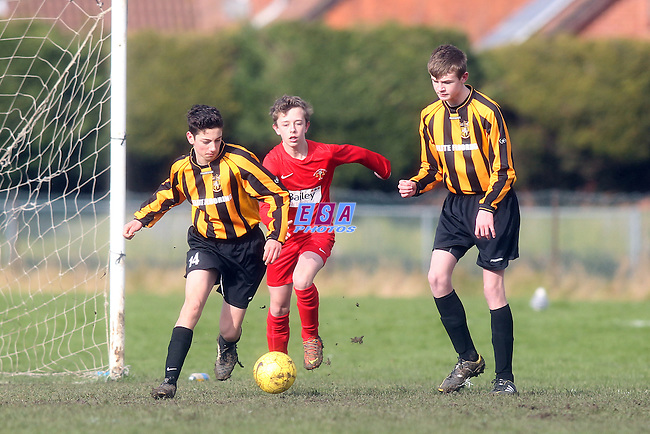 FOLKESTONE INVICTA v HOLLAND AND BLAIR<br /> KENT YOUTH LEAGUE U14 CUP SEMI FINAL SUNDAY 1ST FEB 2015 <br /> POLO GROUND