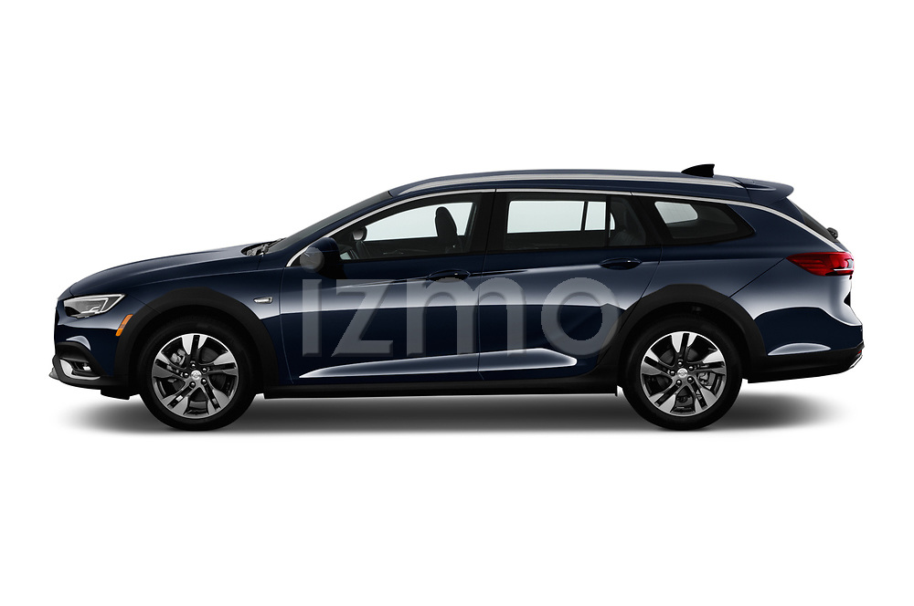 Car driver side profile view of a 2018 Buick Regal TourX Essence AWD 5 Door Wagon