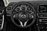 Car pictures of steering wheel view of a 2016 Mazda CX-5 Grand-Touring-auto 5 Door SUV Steering Wheel