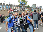 Juventus' fans outside the castle during the Champions League Final match at the National Stadium, Cardiff. Picture date: June 3rd, 2017. Pic credit should read: David Klein/Sportimage