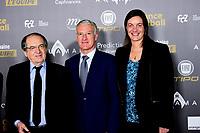 Noel Le Graet - president FFF<br /> Didier Deschamps - entraineur de l equipe de France Masculine<br /> Corinne Diacre - entraineur de l equipe de France Feminine<br /> Parigi 3-12-2018 <br /> Arrivi Cerimonia di premiazione Pallone d'Oro 2018 <br /> Foto JB Autissier/Panoramic/Insidefoto <br /> ITALY ONLY