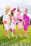 Finalists in the Best dressed lady l-r: Catriona Sayers Tralee, Jennifer Wrynne Leitrim, Tasha O'Connor Templeglantine and Clodagh Whittleton Killorglin at the Killarney Races on Saturday