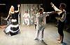 Prima La Musica<br /> Opera At Home Ensemble<br /> at The Arcola Theatre, London, Great Britain <br /> 25th August 2011 <br /> Rehearsal <br /> Grimeborn The Opera Festival<br /> directed by Jose Manuel Gandia<br /> <br /> Benjamin Gould (as Zanni 1)<br /> <br /> Leah Cooper (as Zanni 2)<br /> <br /> Victor Sgarbi (as Maestro)<br /> <br /> Alexia Mankovskaya (as Eleonora)<br /> <br /> <br /> Dario Dugandzic (as Poeta)<br /> <br /> Photograph by Elliott Franks