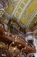Barocker Prunksaal der Nationalbibliothek, Wien, &Ouml;sterreich, UNESCO-Weltkulturerbe<br /> baroque style state room of National Library, Josefsplatz, Vienna, Austria, world heritage
