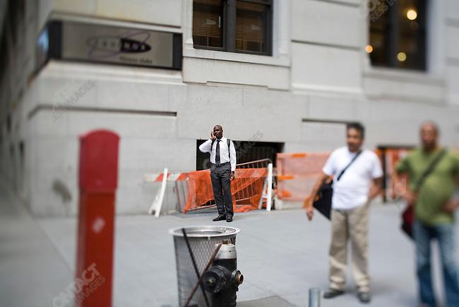Outside The New York Stock Exchange on Wall Street, New York City, New York, USA, September 15, 2008
