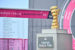 The Trofeo Senza Fine on display before the start of Stage 7 of the 2018 Giro d'Italia, a flat stage running 159km from Pizzo to Praia a Mare, Italy. 11th May 2018.<br /> Picture: LaPresse/Gian Mattia D'Alberto | Cyclefile<br /> <br /> <br /> All photos usage must carry mandatory copyright credit (&copy; Cyclefile | LaPresse/Gian Mattia D'Alberto)