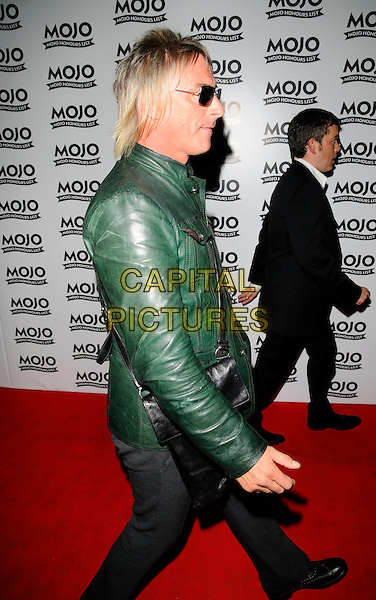 PAUL WELLER.At the Mojo Honours List Awards held at Old Truman Brewery, London, England, June 16th 2008. .arrivals full length green leather jacket black bag sunglasses .CAP/CAN.©Can Nguyen/Capital Pictures