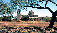 San Antonio:  Mission San Jose Y San Miguel de Aguayo. Begun in the 1720's. The most substantial of the San Antonio Missions.
