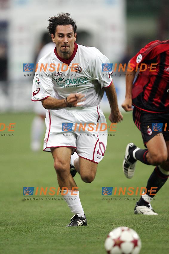 Milano 11/9/2004 CAMPIONATO ITALIANO SERIE A - 1a giornata MILAN - LIVORNO 2-2 Luca Vigiani Livorno<br /> Foto Andrea Staccioli Insidefoto