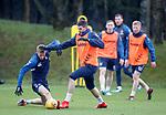 30.11.2018 Rangers training: Kyle Lafferty and Ross McCrorie
