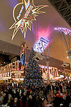 The University of Arizona Wildcats and the Brigham Young University Cougars players and coaches on theFremont Street Experience Thursday, December 18 for the annual Outback Steakhouse buffet bowl