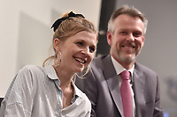 "NEW YORK CITY - APRIL 20: Clemence Poesy attends the Sotheby's lunch and private preview of works by Picasso in conjunction with the National Geographic show ""Genius: Picasso"" at Sotheby's on April 20, 2018 in New York City. (Photo by Anthony Behar/National Geographic/PictureGroup)"