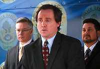 Dennis Burke U.S. Attorney District of Arizona Speaking at the fourth annual Stop Random Gunfire Press Conference in Phoenix, AZ, on this Wednesday, December 29, 2010. .Photo by AJ Alexander/AJAimages