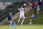 CARY, NC - OCTOBER 06: Wake Forest's Steven Echevarria (15). The University of North Carolina Tar Heels hosted the Wake Forest University Demon Deacons on October 6, 2017 at Koka Booth Field at WakeMed Soccer Park in Cary, NC in a Division I college soccer game.
