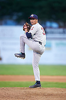 Mahoning Valley Scrappers pitcher Matt Esparza (33) delivers a pitch during a game against the Batavia Muckdogs on July 3, 2015 at Dwyer Stadium in Batavia, New York.  Batavia defeated Mahoning Valley 7-4.  (Mike Janes/Four Seam Images)