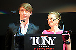 LOS ANGELES - JUN 7: Calum Worthy, Mireille Enos at the Actors Fund's 19th Annual Tony Awards Viewing Party at the Skirball Cultural Center on June 7, 2015 in Los Angeles, CA