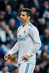 Cristiano Ronaldo of Real Madrid reacts during the La Liga 2017-18 match between Real Madrid and RC Deportivo La Coruna at Santiago Bernabeu Stadium on January 21 2018 in Madrid, Spain. Photo by Diego Gonzalez / Power Sport Images