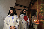 Feast of Theophany in Qasr al Yahud, Greek Orthodox priests at the Monastery of St. John