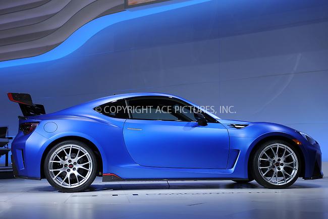 WWW.ACEPIXS.COM<br /> April 1, 2015 New York City<br /> <br /> Subaru STI Performance Concept car at the New York International Auto Show at the Jacob K. Javits Convention Center on  April 1, 2015 in New York City.<br /> <br /> Please byline: Kristin Callahan/AcePictures<br /> <br /> ACEPIXS.COM<br /> <br /> Tel: (646) 769 0430<br /> e-mail: info@acepixs.com<br /> web: http://www.acepixs.com