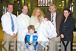 Pictured at the Christening of Baby Angelique with Parents Tommy and Charmaine Laide Ballymacelligott, with God Parents Pat Kirby and Sinead Guinan at St Johns Church on Sunday.