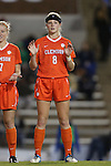 20 October 2013: Clemson's Paige Reckert. The University of North Carolina Tar Heels hosted the University of Virginia Cavaliers at Fetzer Field in Chapel Hill, NC in a 2013 NCAA Division I Women's Soccer match. North Carolina won the game 2-0.