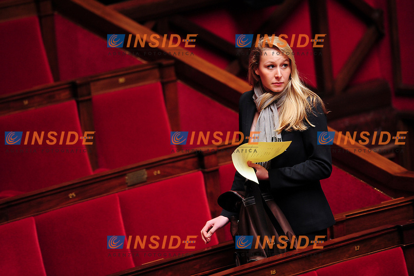 Parigi 26/02/2014 Assemblea Nazionale Marion Marechal Le Pen <br /> Foto Panoramic / Insidefoto