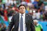 15 July 2015: Mexico head coach Miguel Herrera (MEX). The Mexico Men's National Team played the Trinidad & Tobago Men's National Team at Bank of America Stadium in Charlotte, NC in a 2015 CONCACAF Gold Cup Group C match.