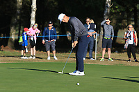 Thorbjorn Olesen (DEN) on the 5th green during the Pro-Am for the Sky Sports British Masters at Walton Heath Golf Club in Tadworth, Surrey, England on Tuesday 10th Oct 2018.<br />