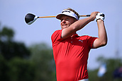 4th June 2017, Dublin, OH, USA;  Soren Kjeldsen of Denmark hits a tee shot on the first hole during the final round of The Memorial Tournament  at the Muirfield Village Golf Club in Dublin, OH.