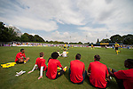 St Albans 0 Watford 5, 26/07/2014. Clarence Park, Pre Season Friendly. Pre Season friendly between St Albans City and Watford from Clarence Park Stadium. The Watford squad watch the action from beside the pitch. Watford won the game 5-0. Photo by Simon Gill.