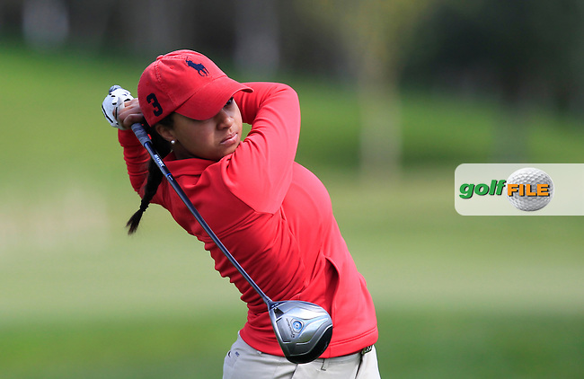 Louise Henningsson (SWE) on the 13th tee during Round 3 of the Irish Girl's Open Stroke Play Championship at Roganstown Golf &amp; Country Club on Sunday 17th April 2016.<br /> Picture:  Thos Caffrey / www.golffile.ie