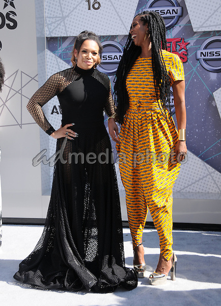 26 June 2016 - Los Angeles. Tisha Campbell, Tasha Smith. Arrivals for the 2016 BET Awards held at the Microsoft Theater. Photo Credit: Birdie Thompson/AdMedia