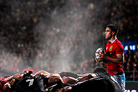 Conor Murray prepares to feed a scrum during the 2017 DHL Lions Series rugby union match between the NZ Maori and British & Irish Lions at Rotorua International Stadium in Rotorua, New Zealand on Saturday, 17 June 2017. Photo: Dave Lintott / lintottphoto.co.nz