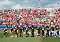July 20, 2013: The New York Red Bulls during the opening ceremonies in a game between Toronto FC and the New York Red Bulls at BMO Field in Toronto, Ontario Canada.<br /> The game ended in a 0-0 draw.