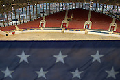 Old Glory from the highest photography box at Dorton Arena in Raleigh, North Carolina on Tuesday, November 25, 2014. (Justin Cook)