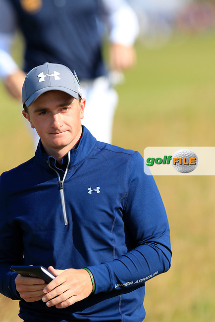 Paul DUNNE (AM)(IRL) walks to the 16th tee during Sunday's Round 3 of the 144th Open Championship, St Andrews Old Course, St Andrews, Fife, Scotland. 19/07/2015.<br /> Picture Eoin Clarke, www.golffile.ie