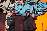 LONDON, ENGLAND - JULY 15: El-P and Killer Mike of 'Run The Jewels' performing at Lovebox, Victoria Park on July 15, 2016 in London, England.<br /> CAP/MAR<br /> &copy;MAR/Capital Pictures /MediaPunch ***NORTH AND SOUTH AMERICAN SALES ONLY***