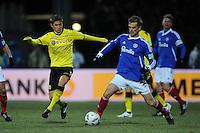 FUSSBALL   DFB POKAL   SAISON 2011/2012   VIERTELFINALE Holstein Kiel - Borussia Dortmund                          07.02.2012 Moritz Leitner (li, Borussia Dortmund)  gegen Christian Juergensen (re, Kiel)